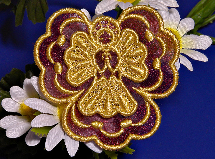 Machine Embroidery Designs K-Lace 3D with Organza