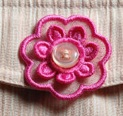 buttonhole flower motif