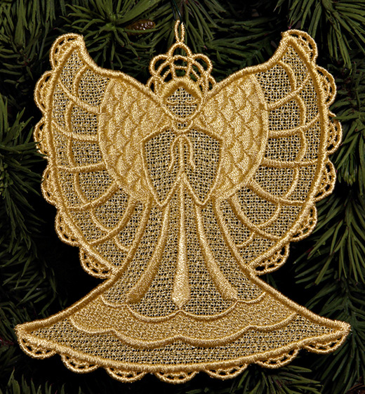 Embroidery Lace Angel Design