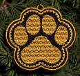 pawprint ornament or coaster