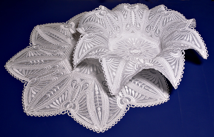 free standing lace machine embroidery