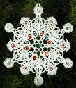 jeweled lace snowflake