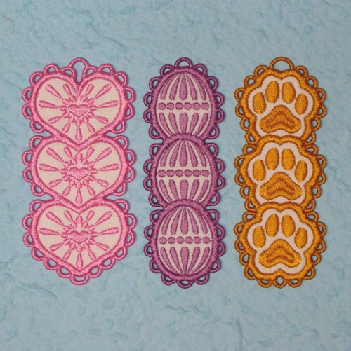 K-Lace Bookmarks Machine Embroidery Designs