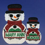 Personalized Snowpeople Embroidery