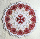 Freestanding Lace Small  Heart Doily