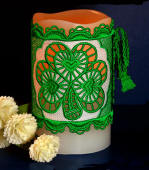 FSL Shamrock Candle Wrap 2-Color