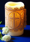 Cross Motif Candle Wrap