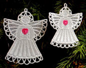 Birthstone Heart Motif FSL Angels