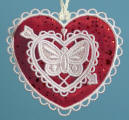 E480E 3D Heart with Organza