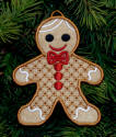 gingerbread boy with fabric