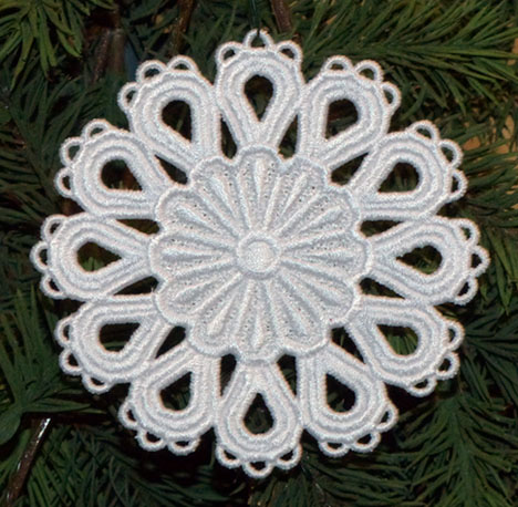 Machine Embroidery Designs K Lace Snowflakes And 3d Ornaments
