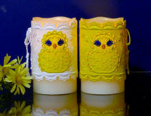 Easter chick candle wraps