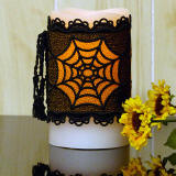 spiderweb candle wrap