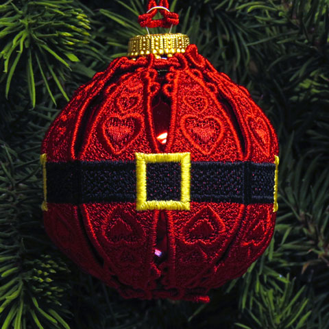 machine embroidery lace ornaments