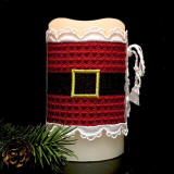 Santa Belt Candle Wrap