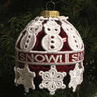 Snowpeople Ornament Cover
