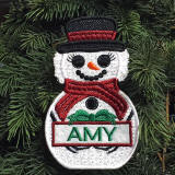 Personalized Snowlady Embroidery