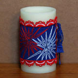 4th of July Candle Wrap