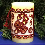candy cane candle wrap