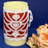 heart motif candle wrap