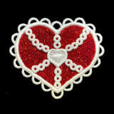 glitter heart ornament