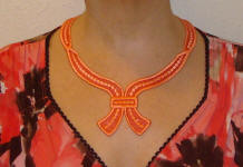organza ribbon necklace