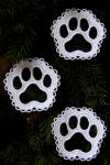pawprint lace ornament