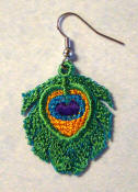 Peacock Earrings Free with Order