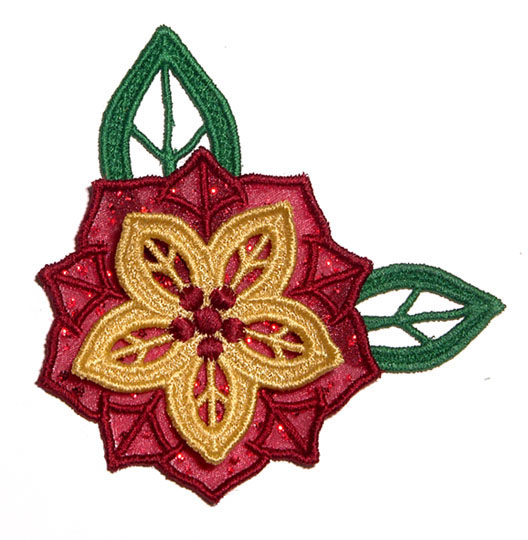 GG Designs Embroidery - Poinsettia FELT STITCHIES (in the hoop
